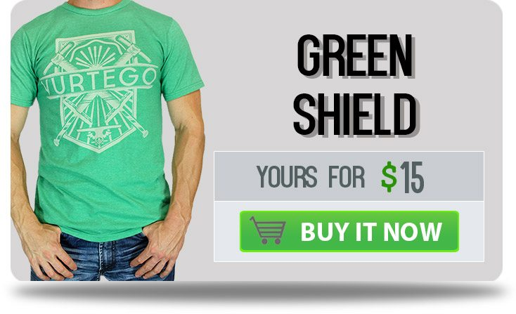 Vurtego Green Shield T-Shirt