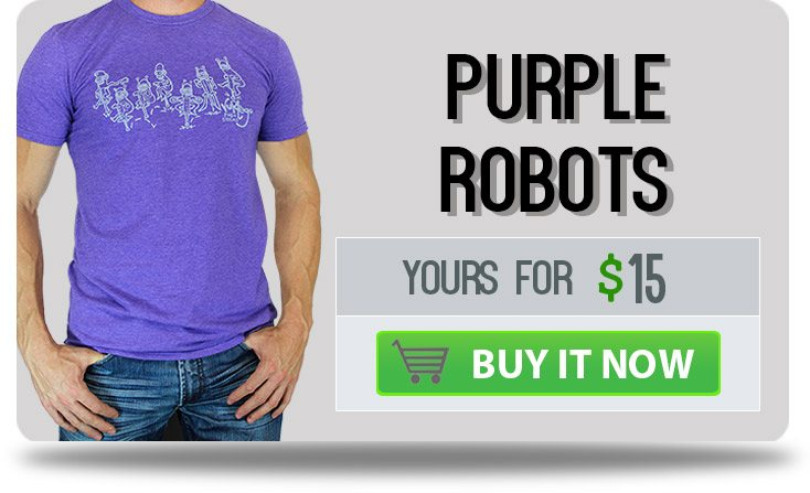 Vurtego Purple Robots T-Shirt