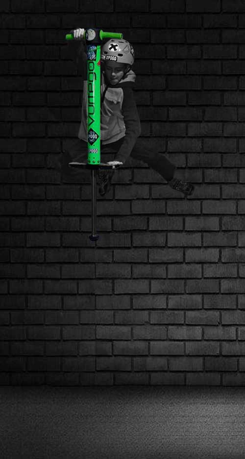 Vurtego pogo stick - lightweight kid jumping