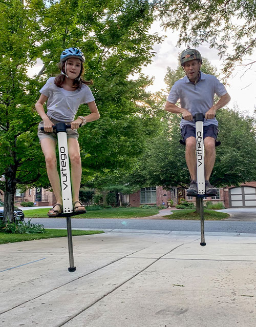 The Callender Family Enjoying Their V4 Fit Pogo Sticks